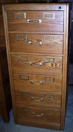 Oak 6 Drawer File Cabinet Unusual Size Great Storage For Flat Doents Original Br Hardware Overall 52 T X 22 1 4 W 26 2 D