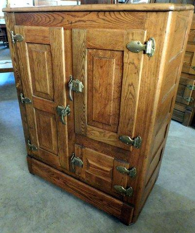 Bakeru0027s Cupboard · #B461 Oak 3 Door Icebox